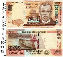 Изображение Банкноты Малави 500 квач 2013  UNC-