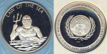 Аукцион: лот США Настольная медаль ООН серебро 868 1974
