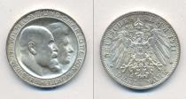 Аукцион: лот Вюртемберг 3 марки серебро 900 проба 1911