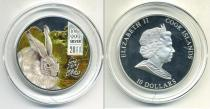 Аукцион: лот Новая Зеландия 10 долларов Ag 999 2011