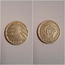 Аукцион: лот Германия 10 REICHSPFENNIG Не указан 1924