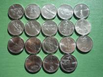Аукцион: лот Россия 5 рублей 70 лет Победы комплект 18 монет Не указан 2014