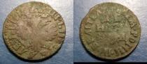 Аукцион: лот 1689 – 1725 Петр I денга Медь 1704