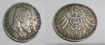 Аукцион: лот Германия 5 марок серебро 900 проба 1908