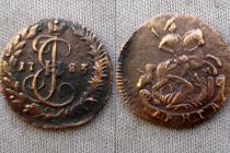 Аукцион: лот 1762 – 1796 Екатерина II денга Медь 1783