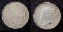 Аукцион: лот Великобритания six pence( 6 пенни) серебро 900 проба 1855