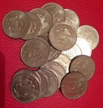 Аукцион: лот Современная Россия монетный брак, номиналом 5 руб. 20 шт. Не указан 2009-2014