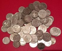 Аукцион: лот Современная Россия монетный брак, номиналом: 1 руб; 2 руб; 5 руб. 74 шт. Не указан 2009-2014