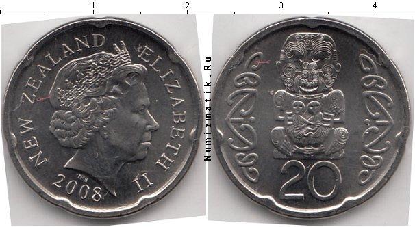Каталог монет - Новая Зеландия 20 центов