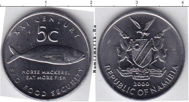 Каталог монет - Намибия 5 центов