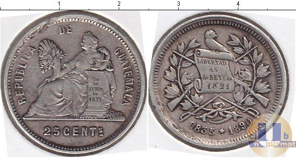 Каталог монет - Гватемала 25 сентаво