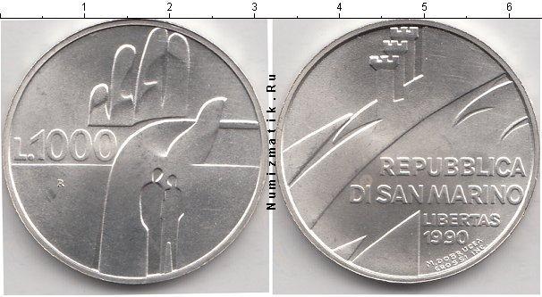 Каталог монет - Сан-Марино 1000 лир