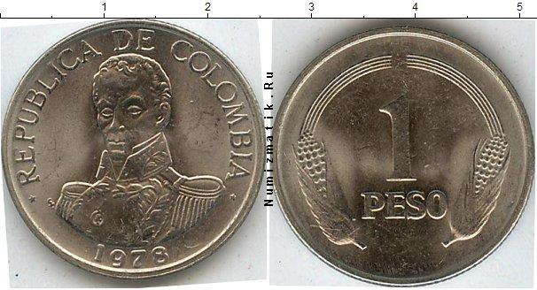 Каталог монет - Колумбия 1 песо