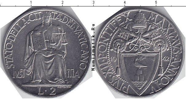 Каталог монет - Ватикан 2 лиры