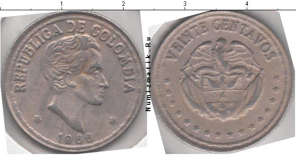 Каталог монет - Колумбия 50 сентаво