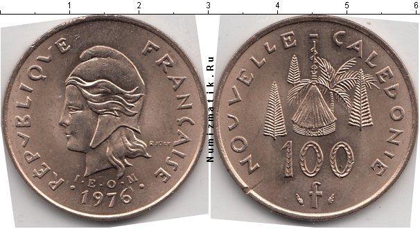 Каталог монет - Новая Каледония 100 франков