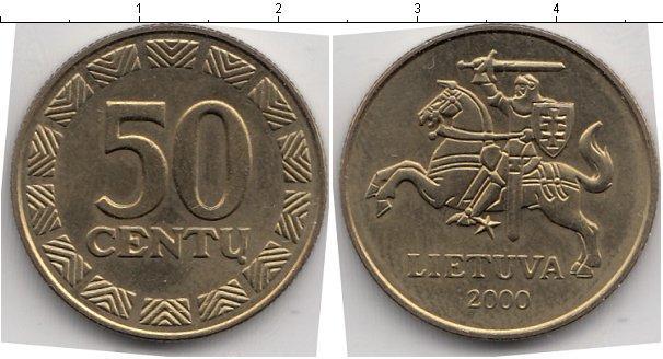 Каталог монет - Литва 50 центов