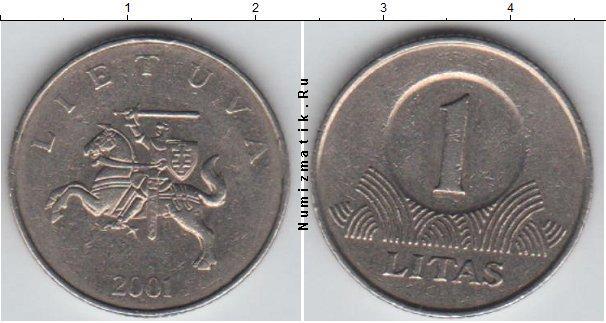 Каталог монет - Литва 1 лит