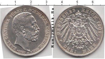Каталог монет - Шварцбург-Зондерхаузен 3 марки