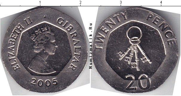 Каталог монет - Гибралтар 20 пенсов