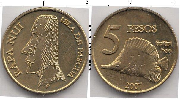 Каталог монет - Остров Пасхи 5 песо