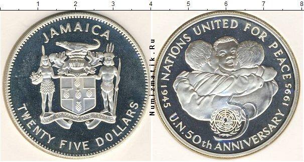 Каталог монет - Ямайка 25 долларов