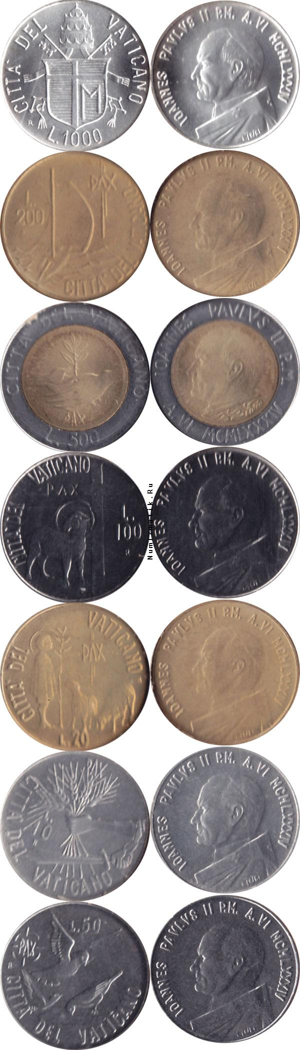 Каталог монет - Ватикан Anno VI 1984