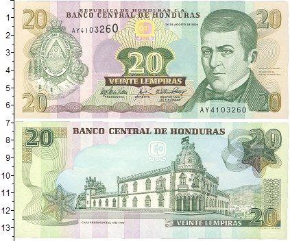 Каталог монет - Гондурас 20 лемпир