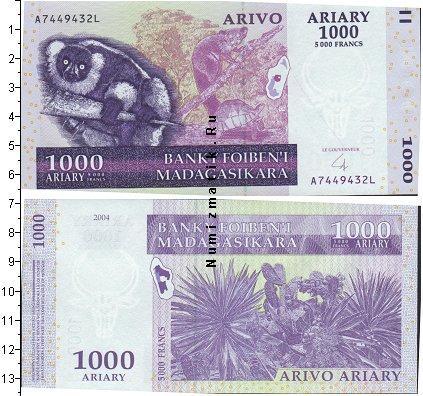 Каталог монет - Мадагаскар 1000 ариари