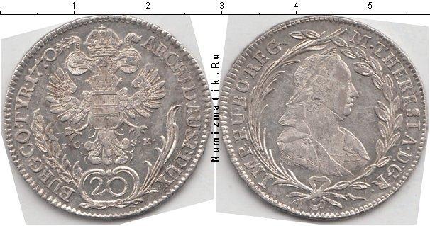 Каталог монет - Австрия 20 крейцеров