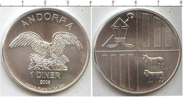 Каталог монет - Андорра 1 динер