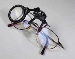 Каталог монет - Увеличительные приборы Лупа Lu CLIP с креплением на очки