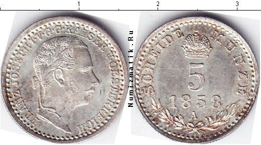Каталог монет - Австрия 5 крейцеров