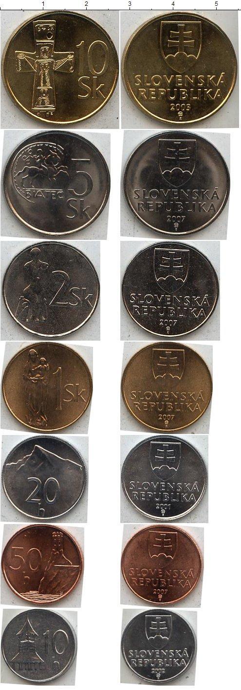 Каталог монет - Словакия Словакия 2001-2007