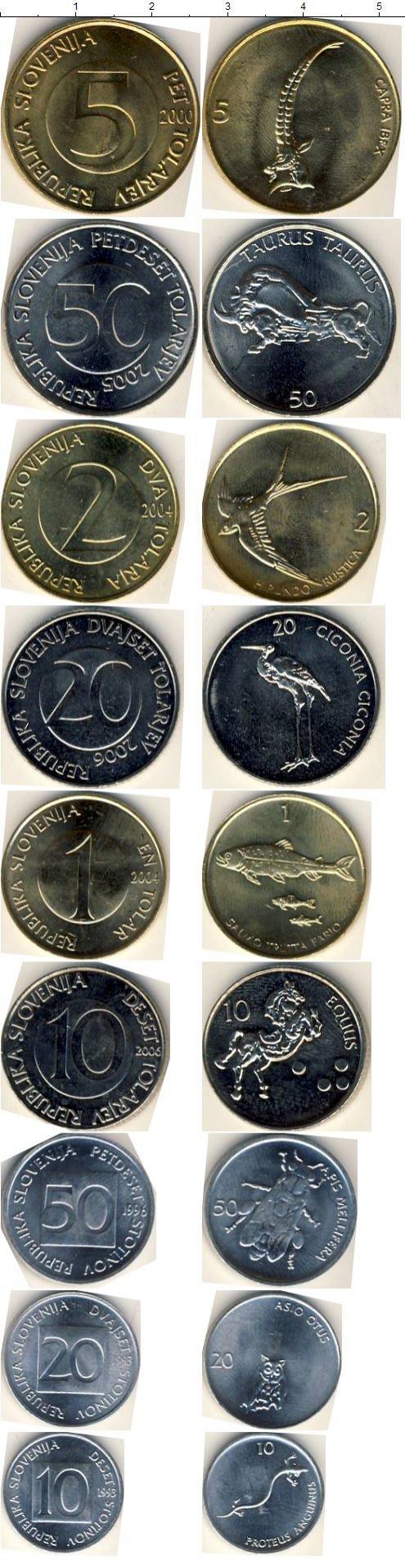 Каталог монет - Словения Словения 1993-2006