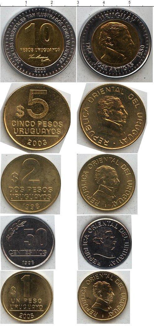 Каталог монет - Уругвай Уругвай 1998-2005