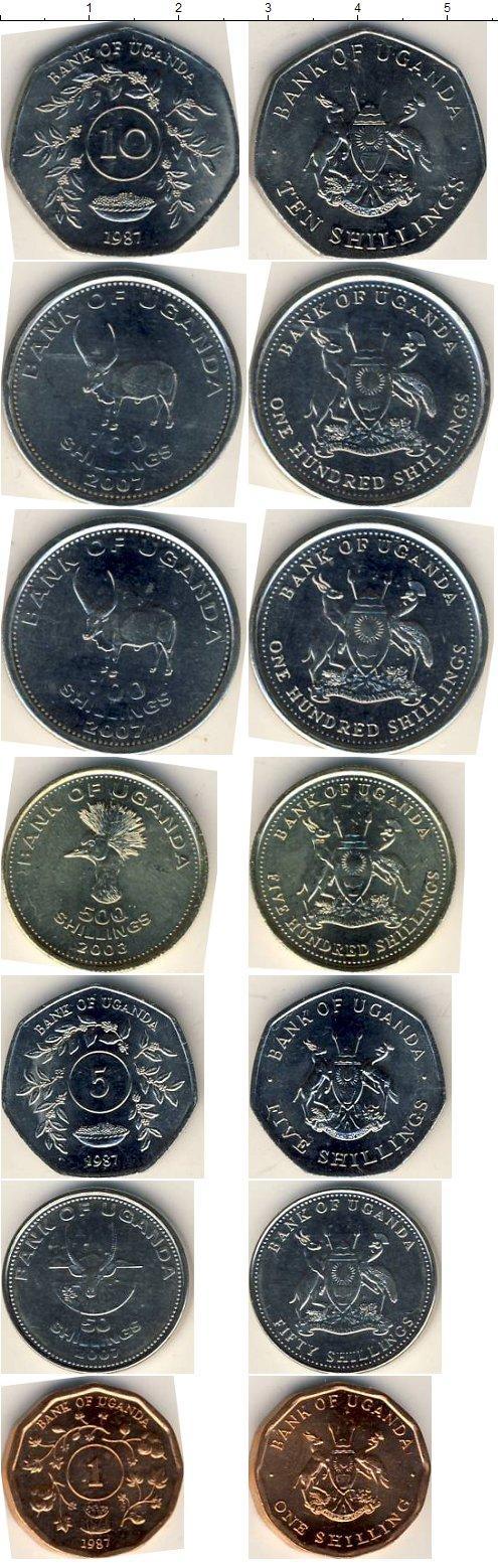Каталог монет - Уганда Уганда 1987-2007
