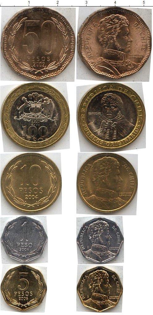 Каталог монет - Чили Чили 2001-2006
