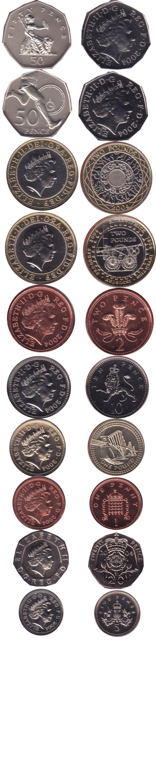 Каталог монет - Великобритания Регулярный выпуск 2004