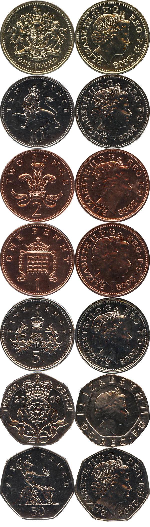 Каталог монет - Великобритания Новые гербы
