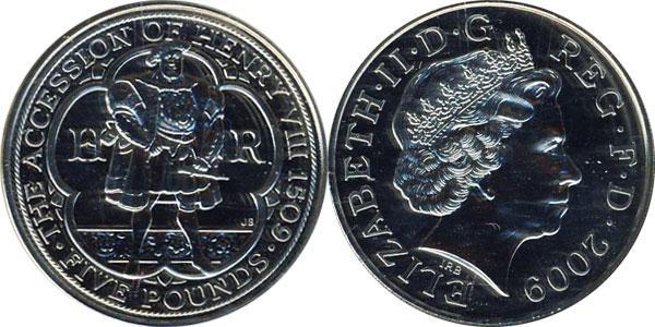 Каталог монет - Великобритания Генри VIII
