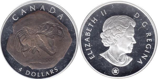 Каталог монет - Канада Палеонтология