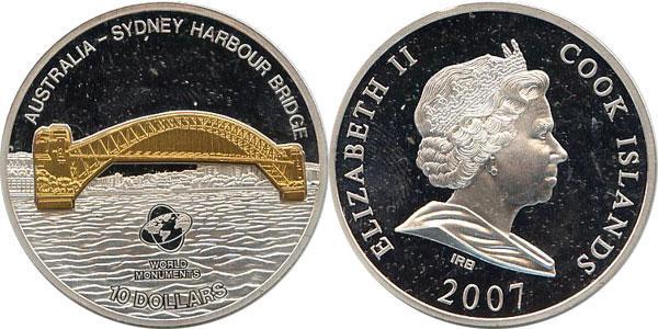 Каталог монет - Острова Кука Мост Харбор Бридж