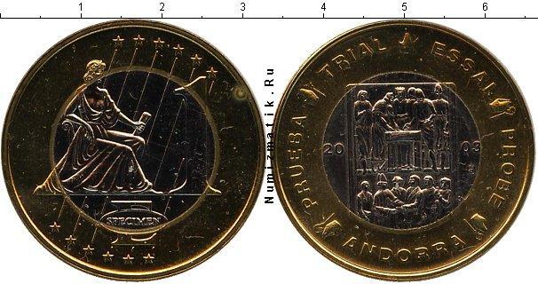 Каталог монет - Андорра 1 евро
