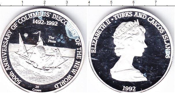 Каталог монет - Теркc и Кайкос 20 крон