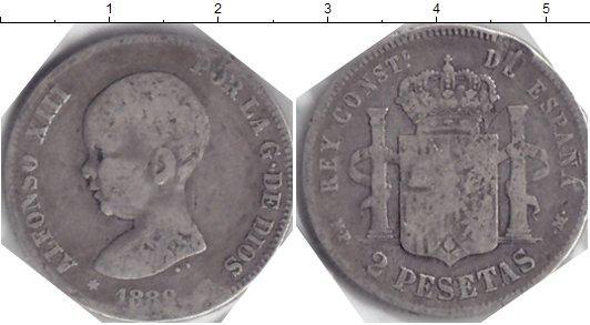 Каталог монет - Испания 2 песеты