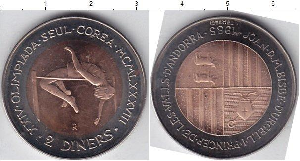 Каталог монет - Андорра 2 динерса
