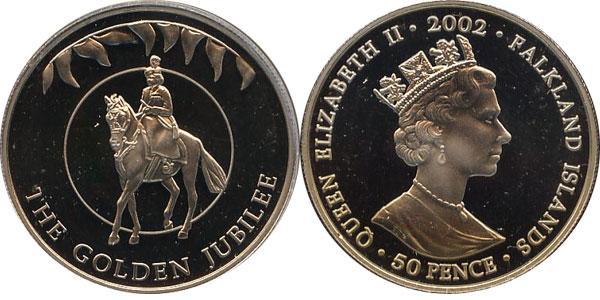 Каталог монет - Фолклендские острова Золотой юбилей королевы