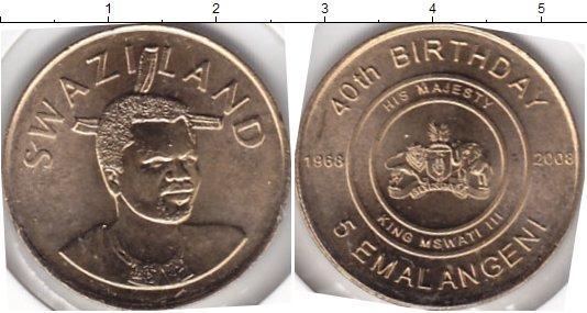 Каталог монет - Свазиленд 5 эмалангени