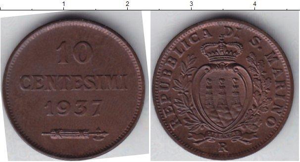 Каталог монет - Сан-Марино 10 сентесим